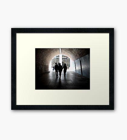 Tunnel Visions Framed Print