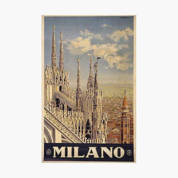 Vintage Travel Poster: Milano Photographic Print