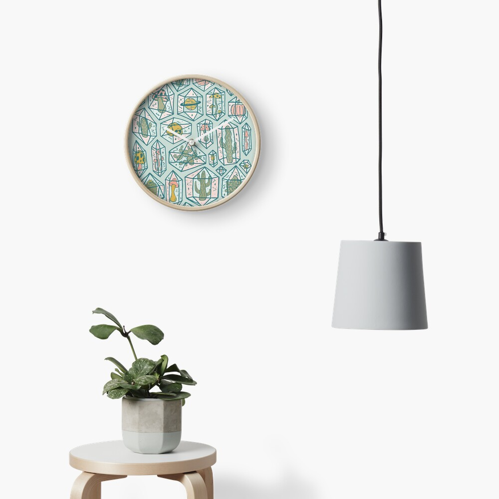 Crystals and Plants Clock
