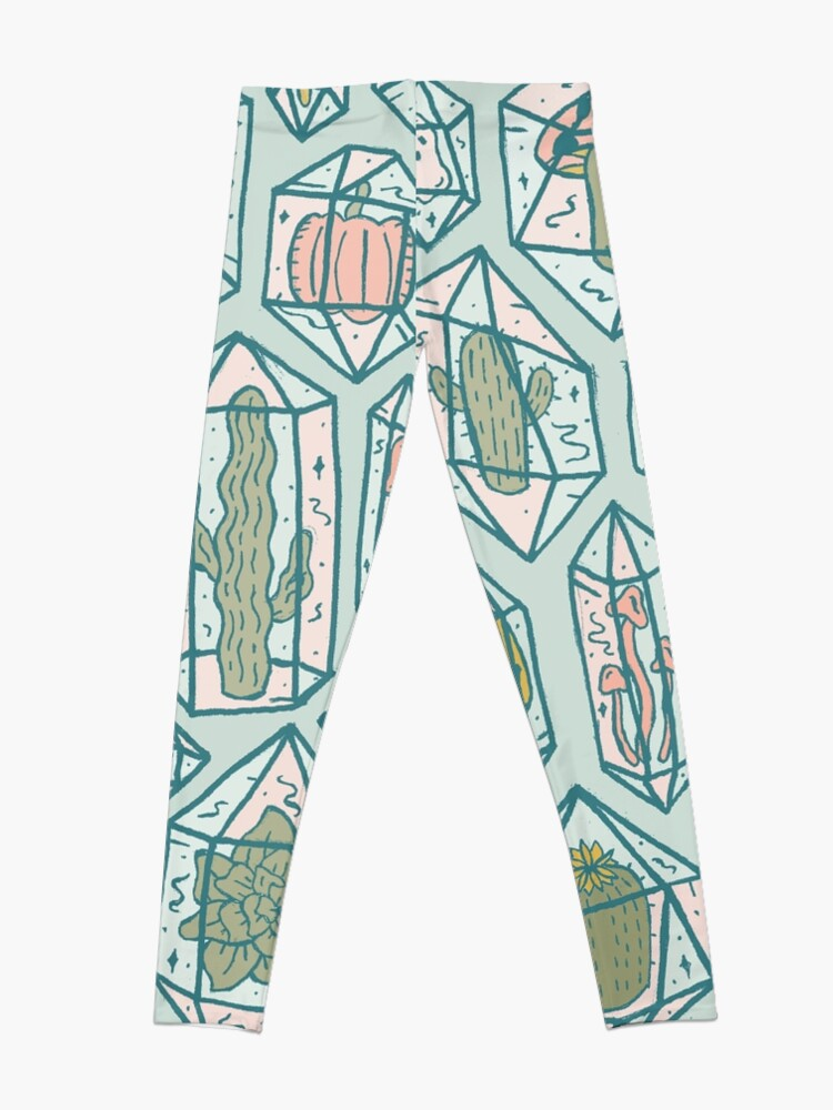 Alternate view of Crystals and Plants Leggings