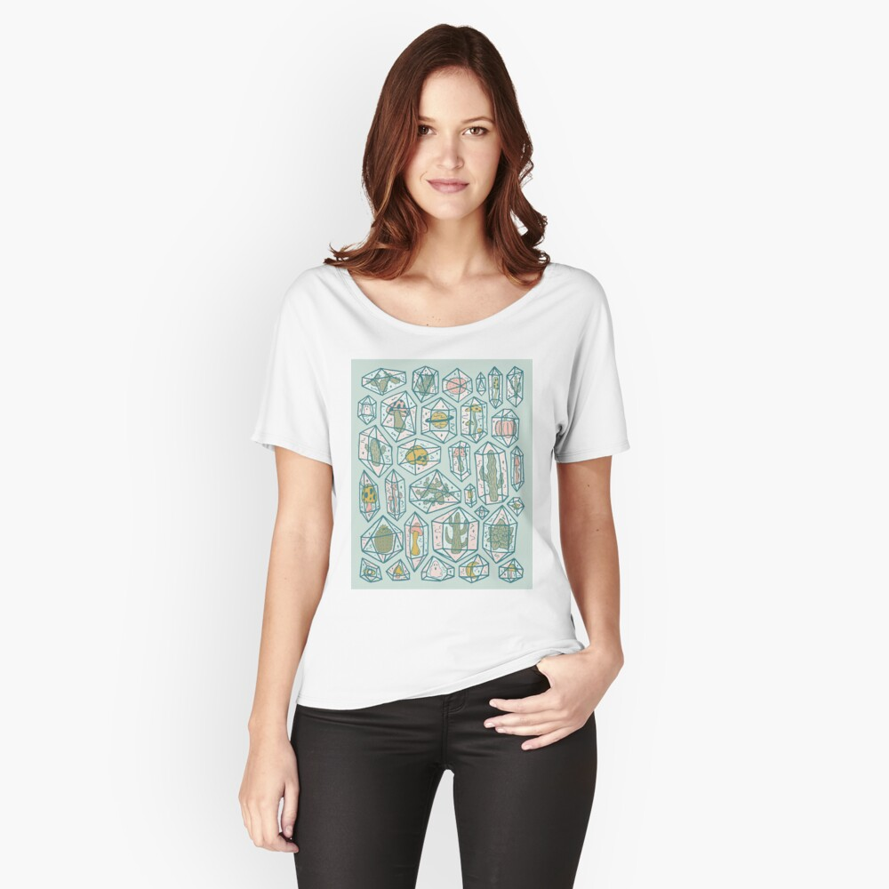 Crystals and Plants Relaxed Fit T-Shirt