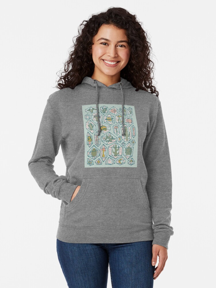 Alternate view of Crystals and Plants Lightweight Hoodie