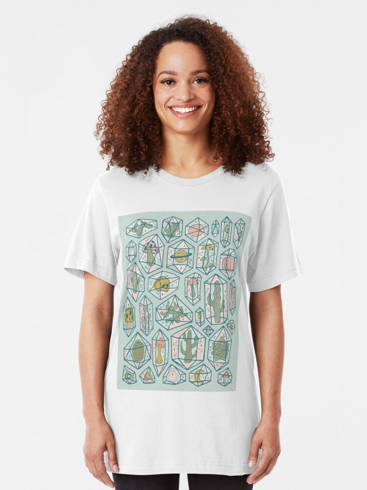 Alternate view of Crystals and Plants Slim Fit T-Shirt