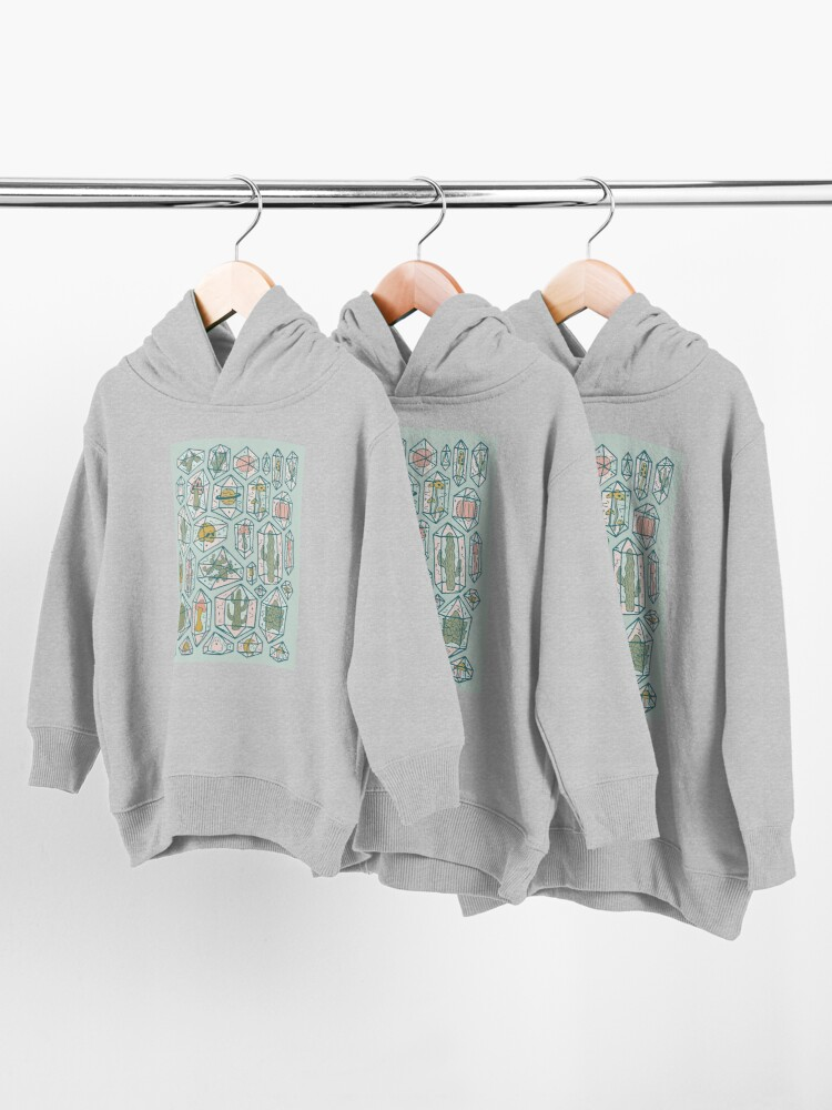 Alternate view of Crystals and Plants Toddler Pullover Hoodie