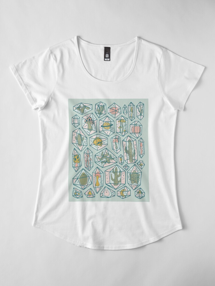 Alternate view of Crystals and Plants Premium Scoop T-Shirt
