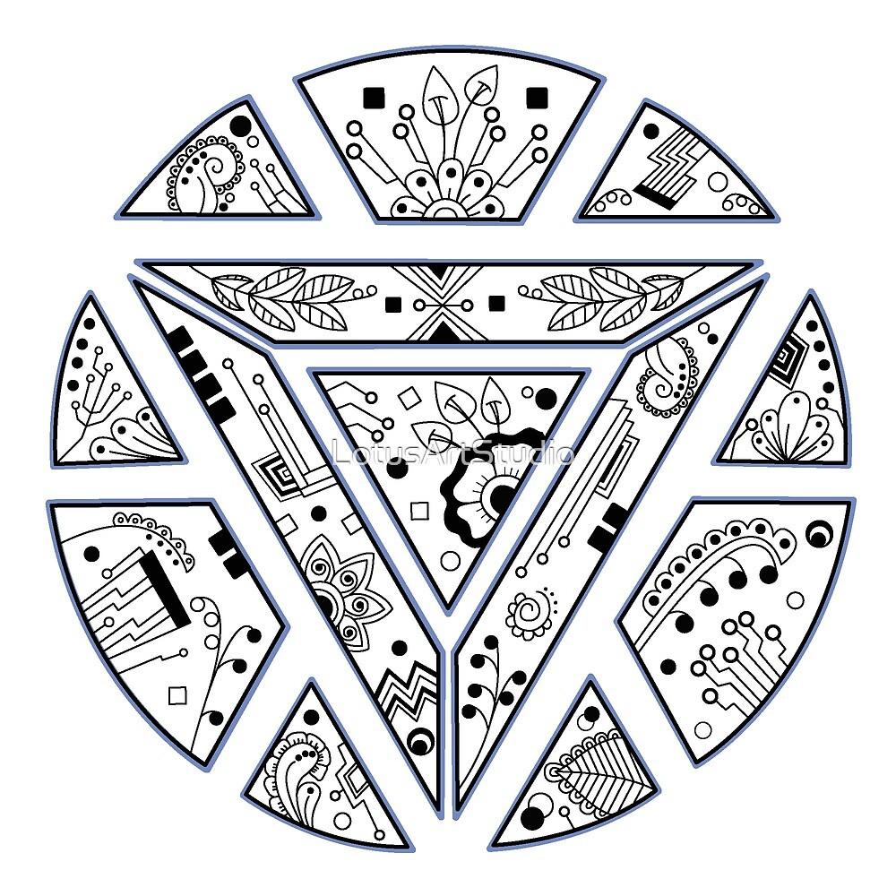 The crest mandala by LotusArtStudio