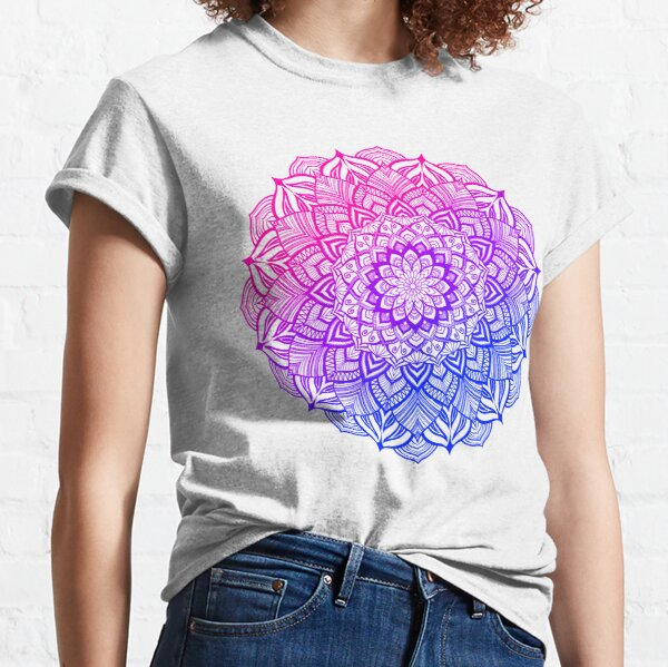 Bi Pride Striped Mandala Classic T-Shirt