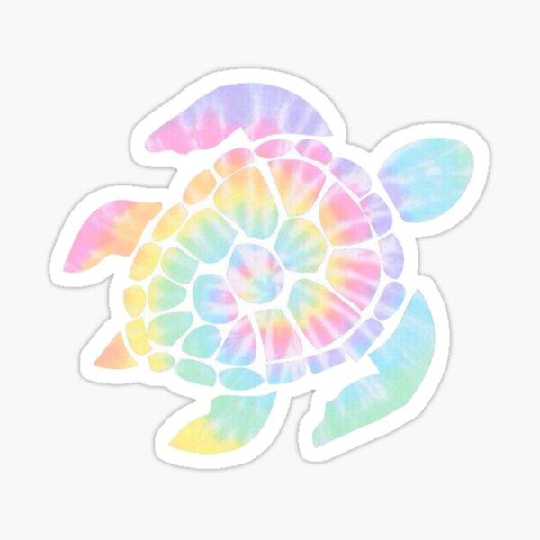 Tie Dye Turtle Sticker
