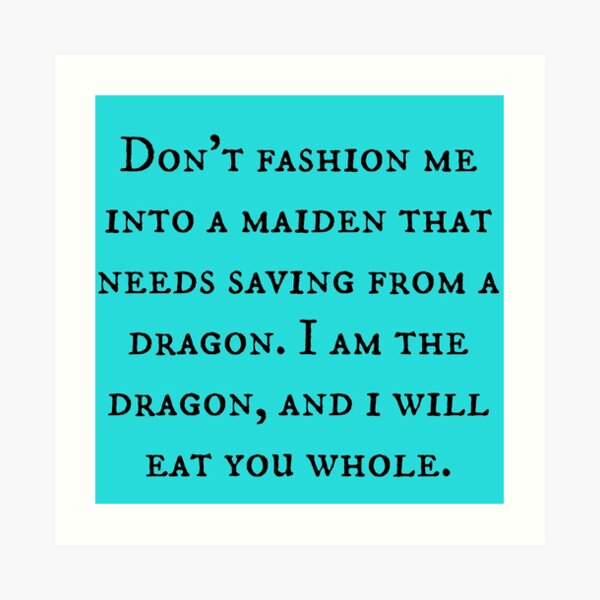 Dragon of Feminism 2 Art Print