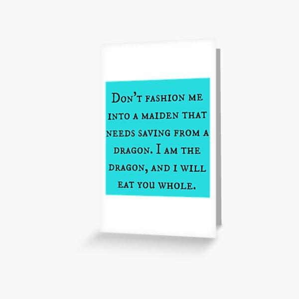 Dragon of Feminism 2 Greeting Card