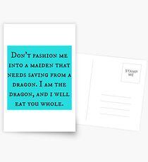 Dragon of Feminism 2 Postcards