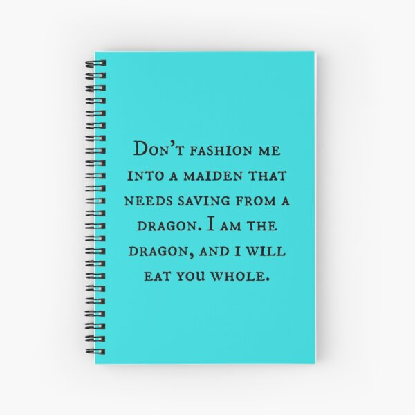 Dragon of Feminism 2 Spiral Notebook