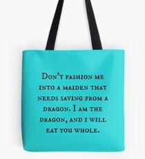 Dragon of Feminism 2 Tote Bag