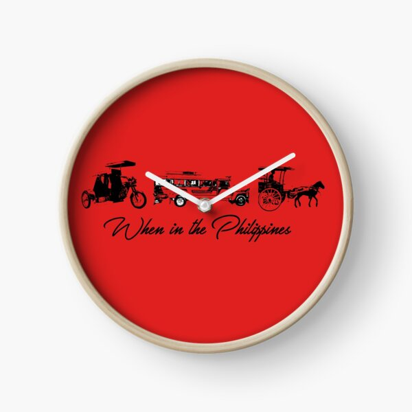 When in the Philippines - Tricycle Jeepney Horse Carriage Transportation Clock