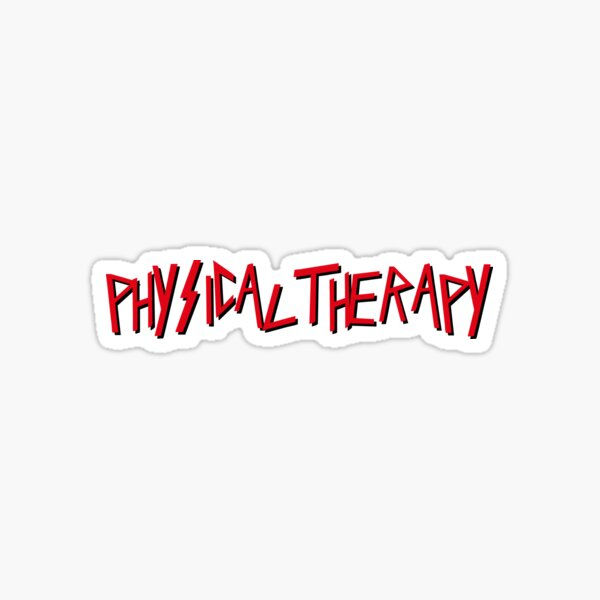 Physical Therapy in Metal Font Sticker