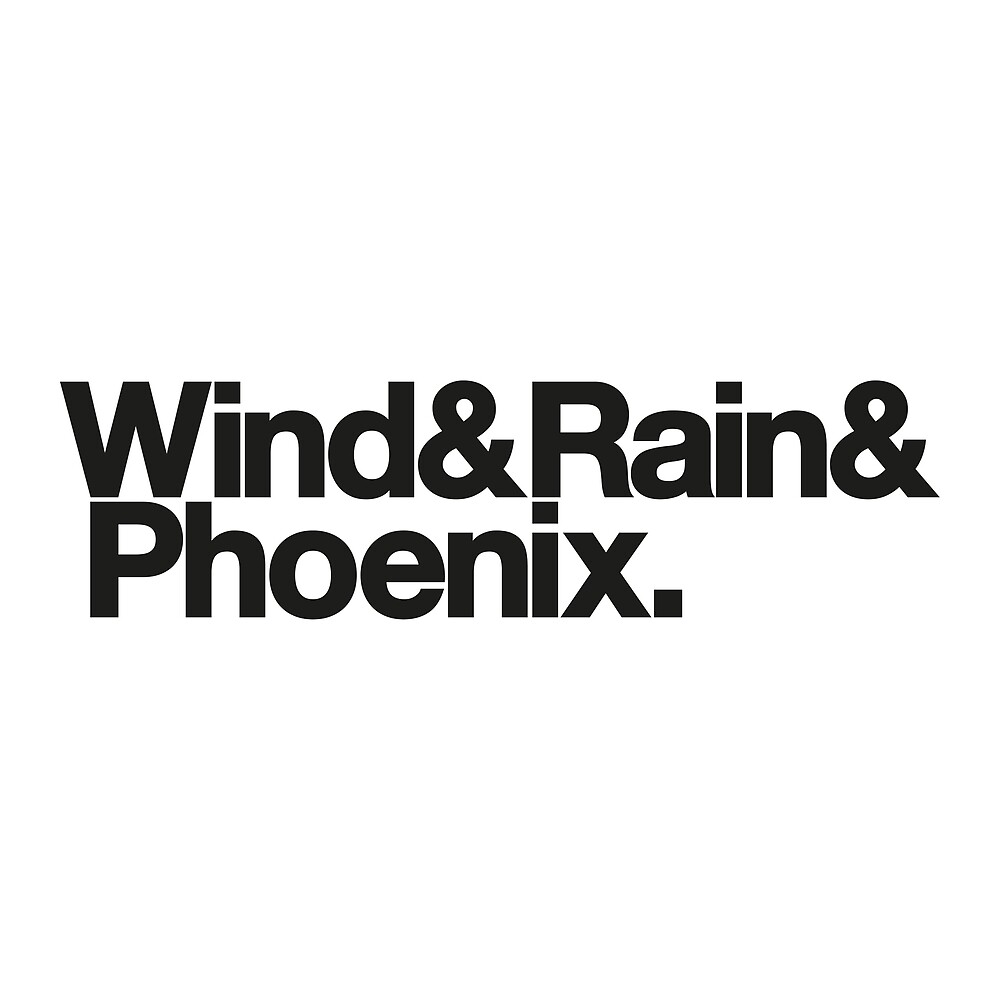 Wind & Rain & Phoenix (Black) by YellowFeverNZ