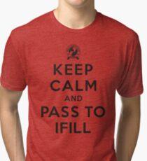 Keep Calm, Pass to Ifill (Black) Tri-blend T-Shirt