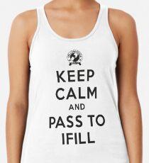 Keep Calm, Pass to Ifill (Black) Racerback Tank Top