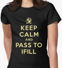 Keep Calm, Pass to Ifill (Yellow) Fitted T-Shirt