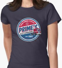 Prime's Autoshop Womens Fitted T-Shirt