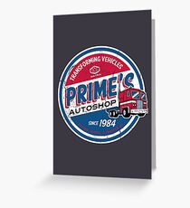 Prime's Autoshop Greeting Card