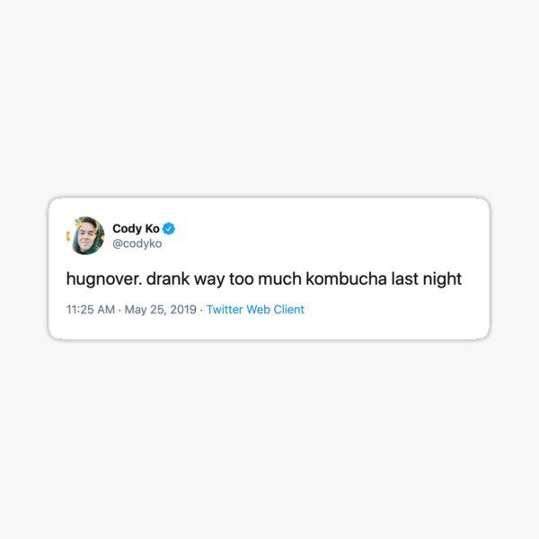 Cody Ko Kombucha Hangover Tweet Sticker