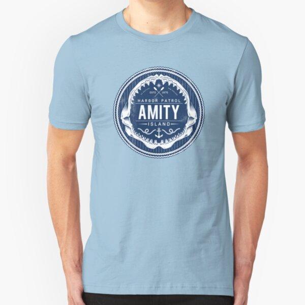 Amity Island Harbor Patrol Slim Fit T-Shirt