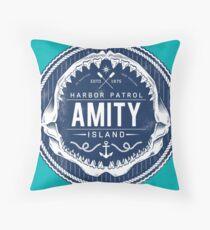 Amity Island Harbor Patrol Throw Pillow