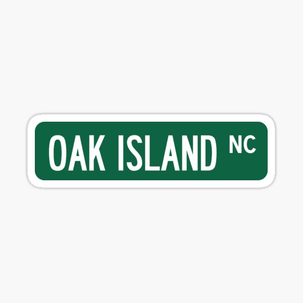 Oak Island, NC Street Sign Sticker Sticker