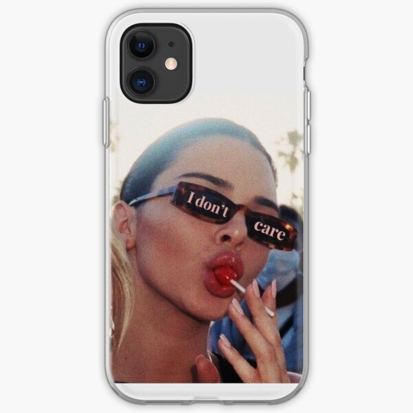 Kendall Jenner I Dont Care iPhone Soft Case