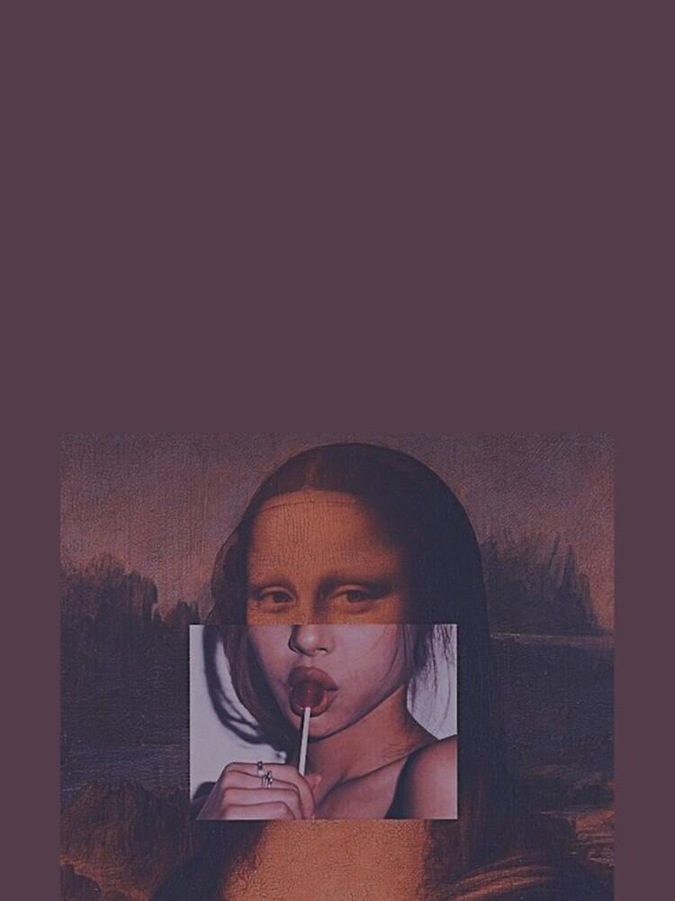 Mona Lisa Sucking Lollipop by Asappebble