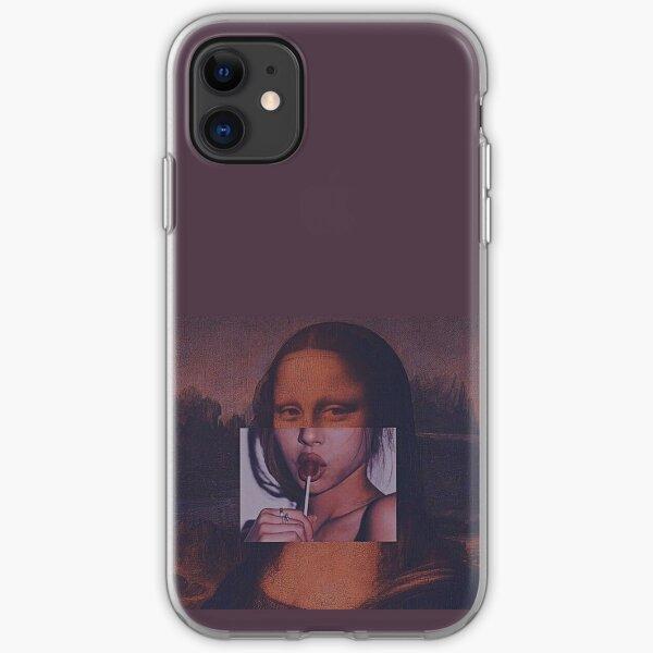 Mona Lisa Sucking Lollipop iPhone Soft Case