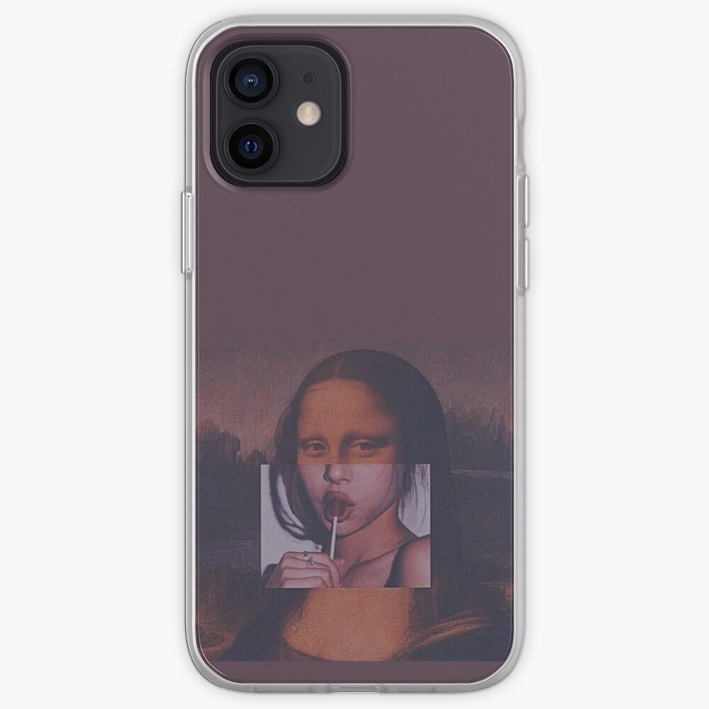Mona Lisa Sucking Lollipop iPhone Case & Cover