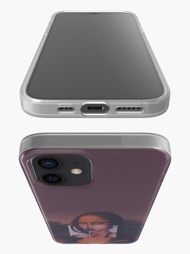 Alternate view of Mona Lisa Sucking Lollipop iPhone Case & Cover