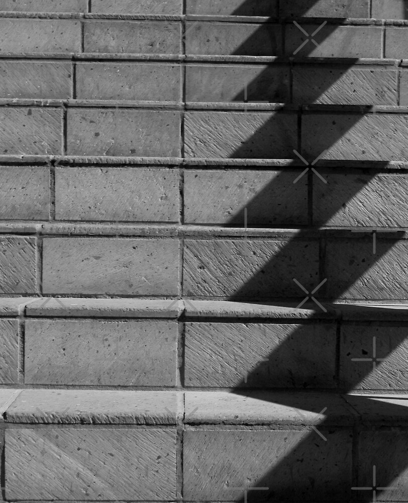 Abstract Stairs in B&W  by Heather Friedman