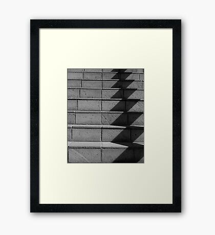 Abstract Stairs in B&W  Framed Print