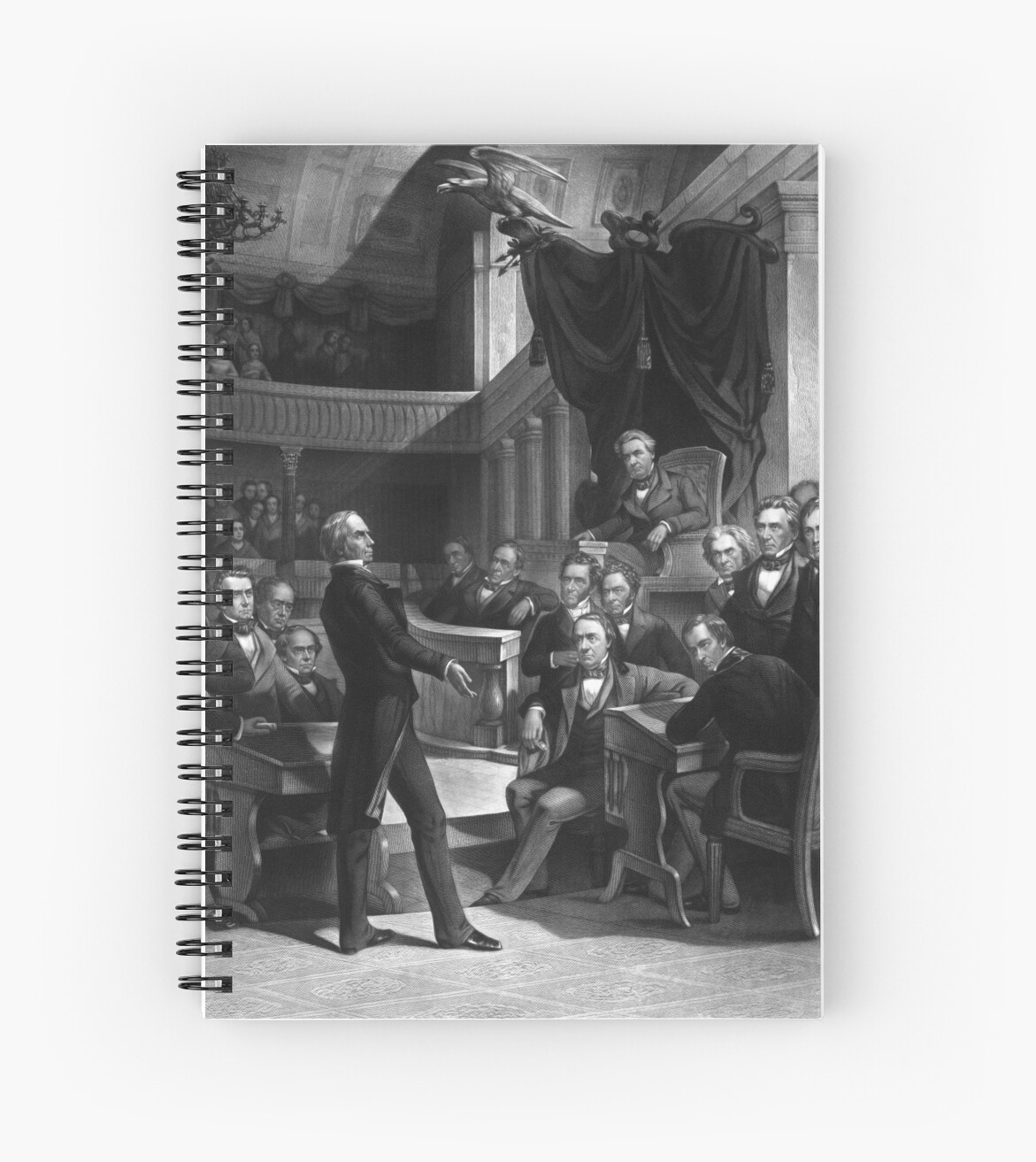 Quot Henry Clay Speaking In The Senate Quot Spiral Notebook By