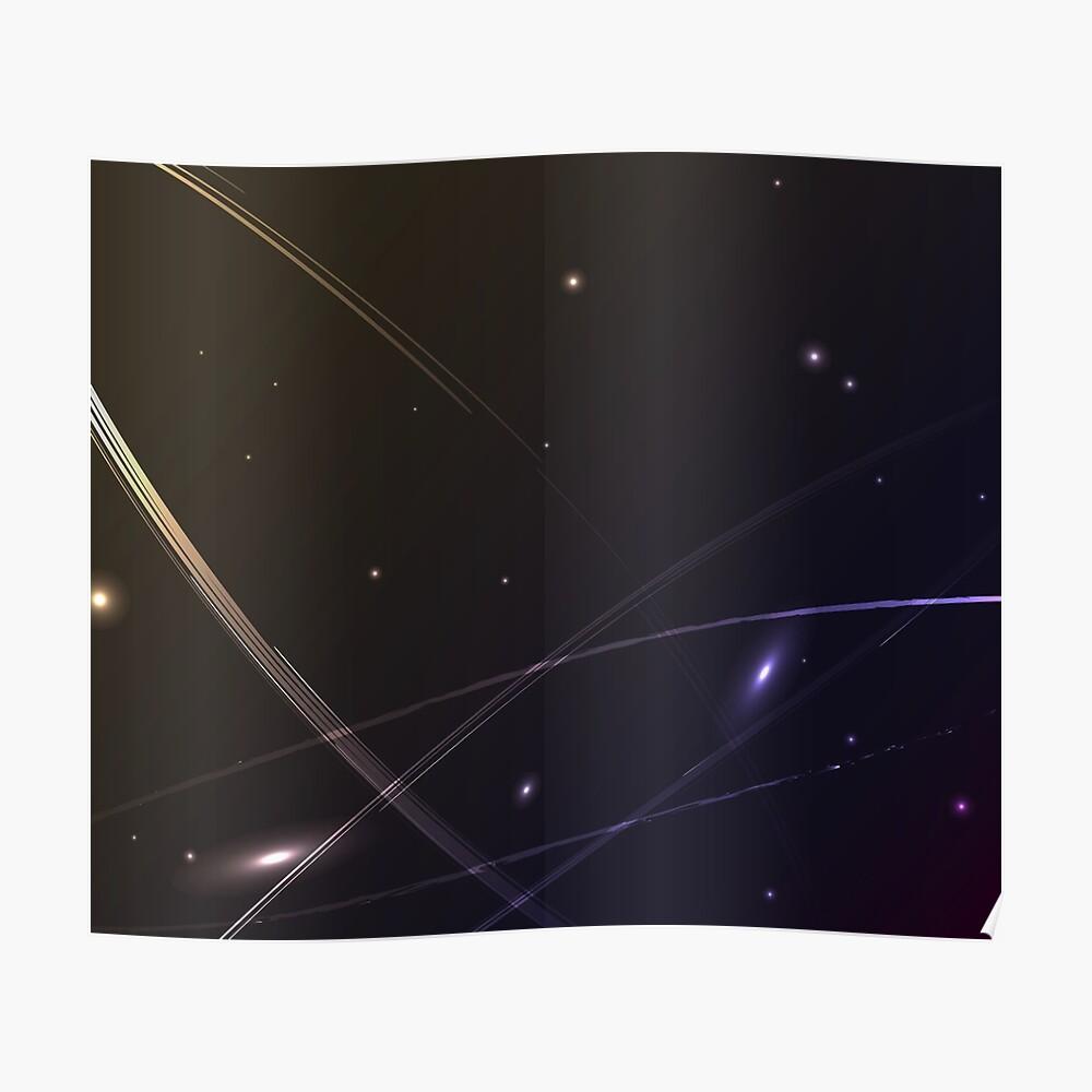Kleine Asteroiden im weiten Universum Poster