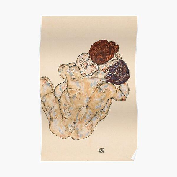 Egon Schiele - Mann und Frau Poster