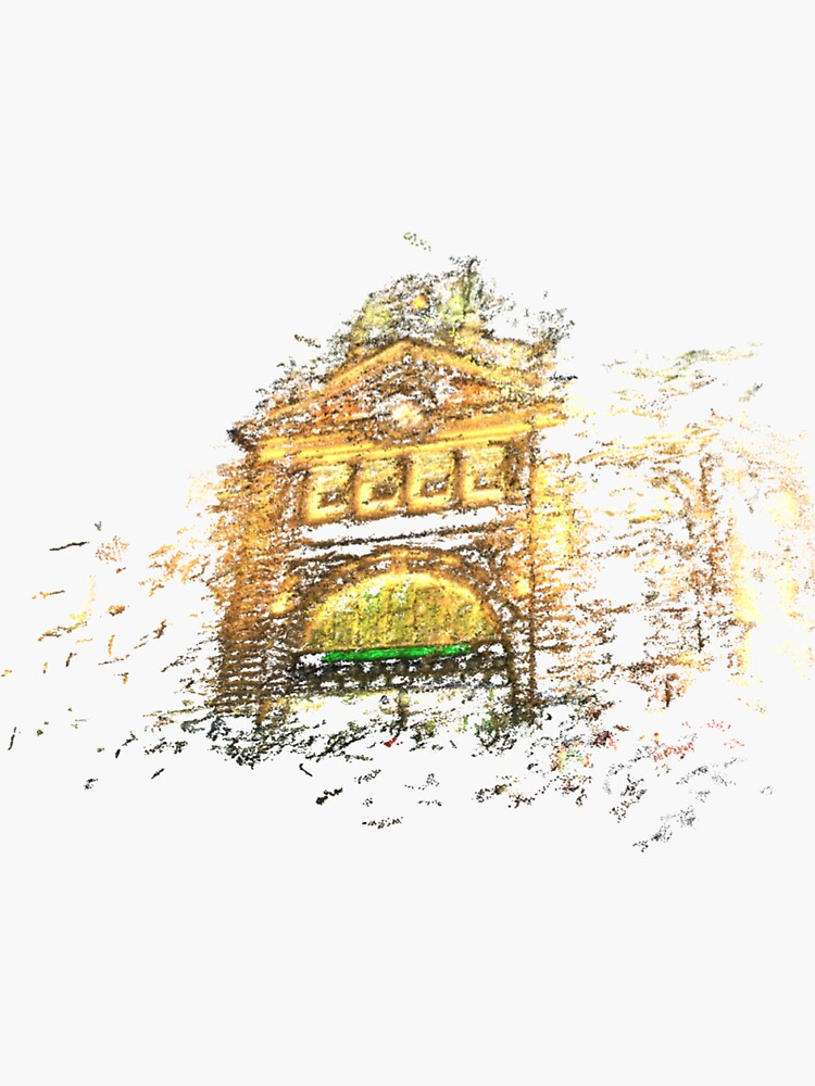 Flinders Street Station point cloud in gold at night by notamitchell