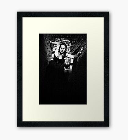 She is comming! Framed Print