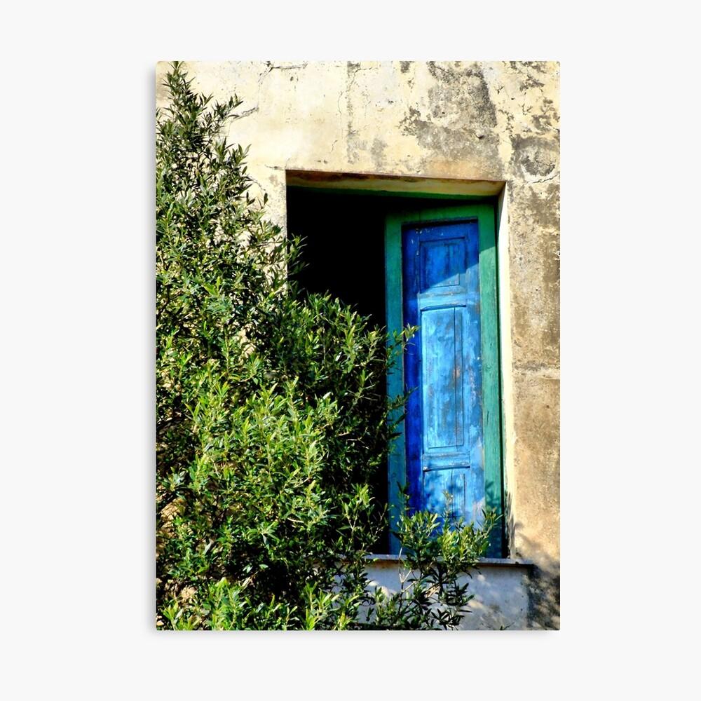 a blue window Canvas Print