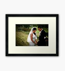 To have and to hold...... Framed Print