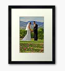 I give my heart to you Framed Print