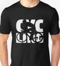Gift For Cyclist Cycling Mom Dad Cycling Silhouette Slim Fit T-Shirt