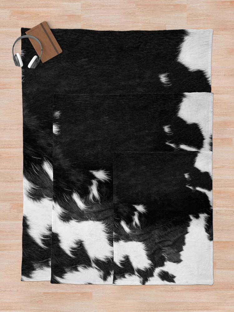 Alternate view of Cowhide Spots Throw Blanket