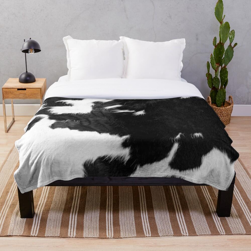 Cowhide Spots Throw Blanket
