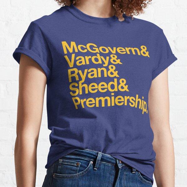 AFL West Coast Eagles Premiers 2018 McGovern Vardy Ryan Sheed Classic T-Shirt