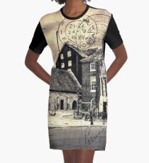 Vintage Style Postcard Poole Customs House Graphic T-Shirt Dress