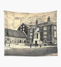 Vintage Style Postcard Poole Customs House Wall Tapestry